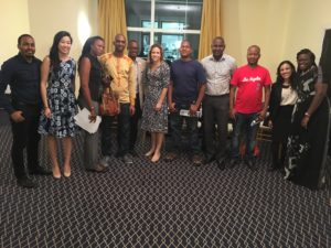 EPL attends reception with YALI fellows in Guinea