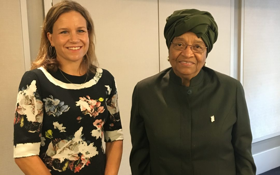 Betsy Williams recognized by H.E. President Ellen Johnson Sirleaf for work in Liberia